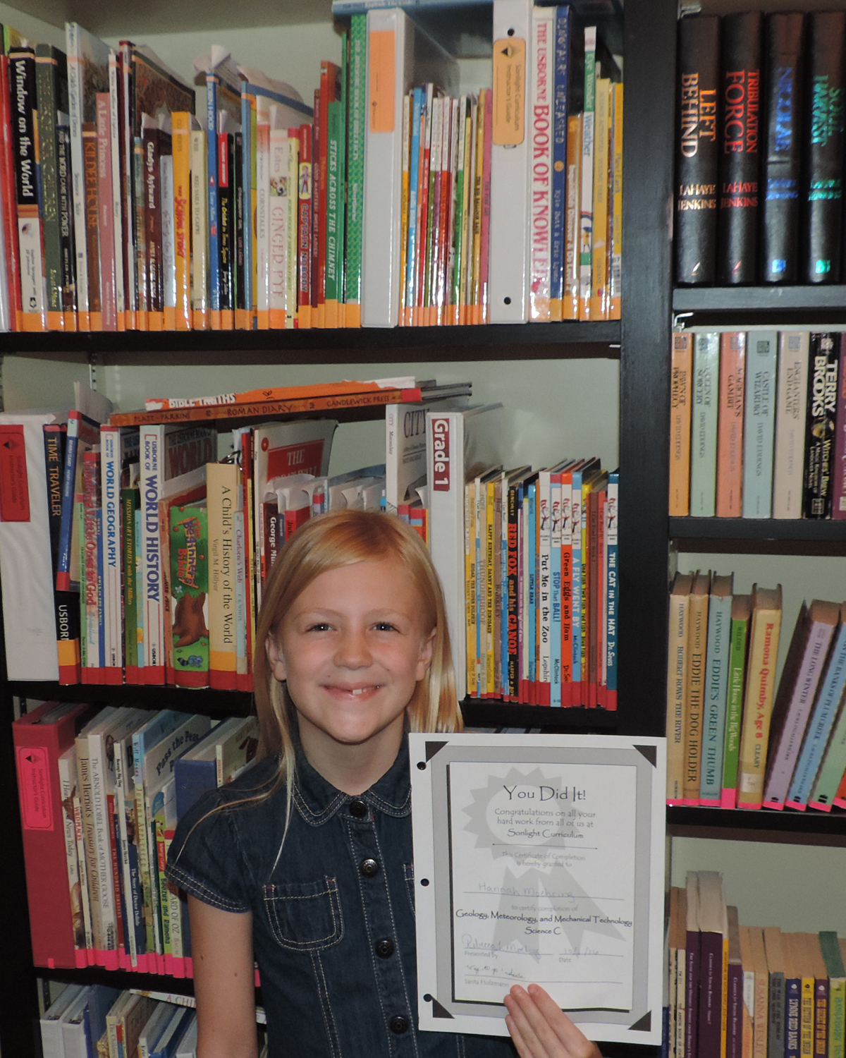 Finished 2nd Grade Sci